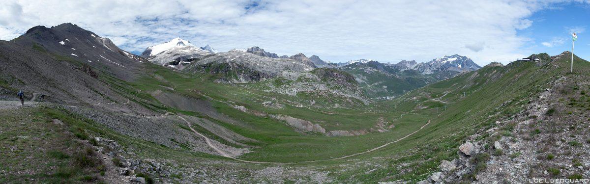 Maciço Vanoise do Col de Fresse via Tignes, Haute-Tarentaise, Savoy Alps, paisagem montanhosa