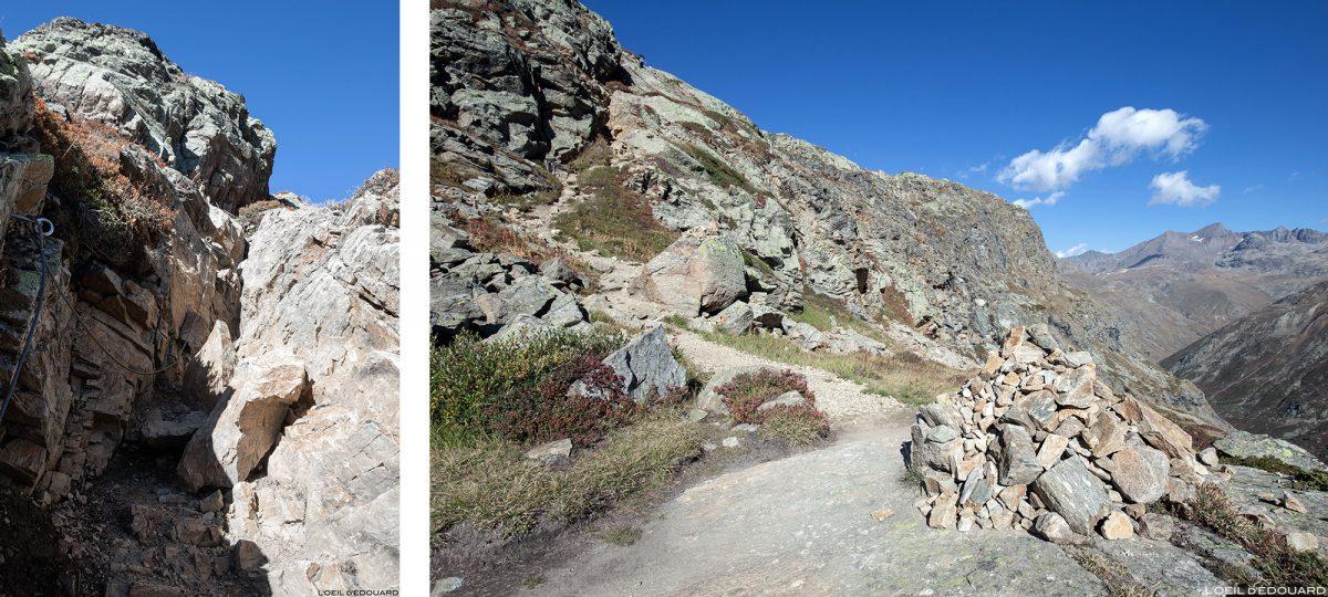 Teleférico nos desfiladeiros de Reculaz: caminhada até o Cirque des Évettes - Alpes Gregos, Haute-Maurienne, Alpes Savoie