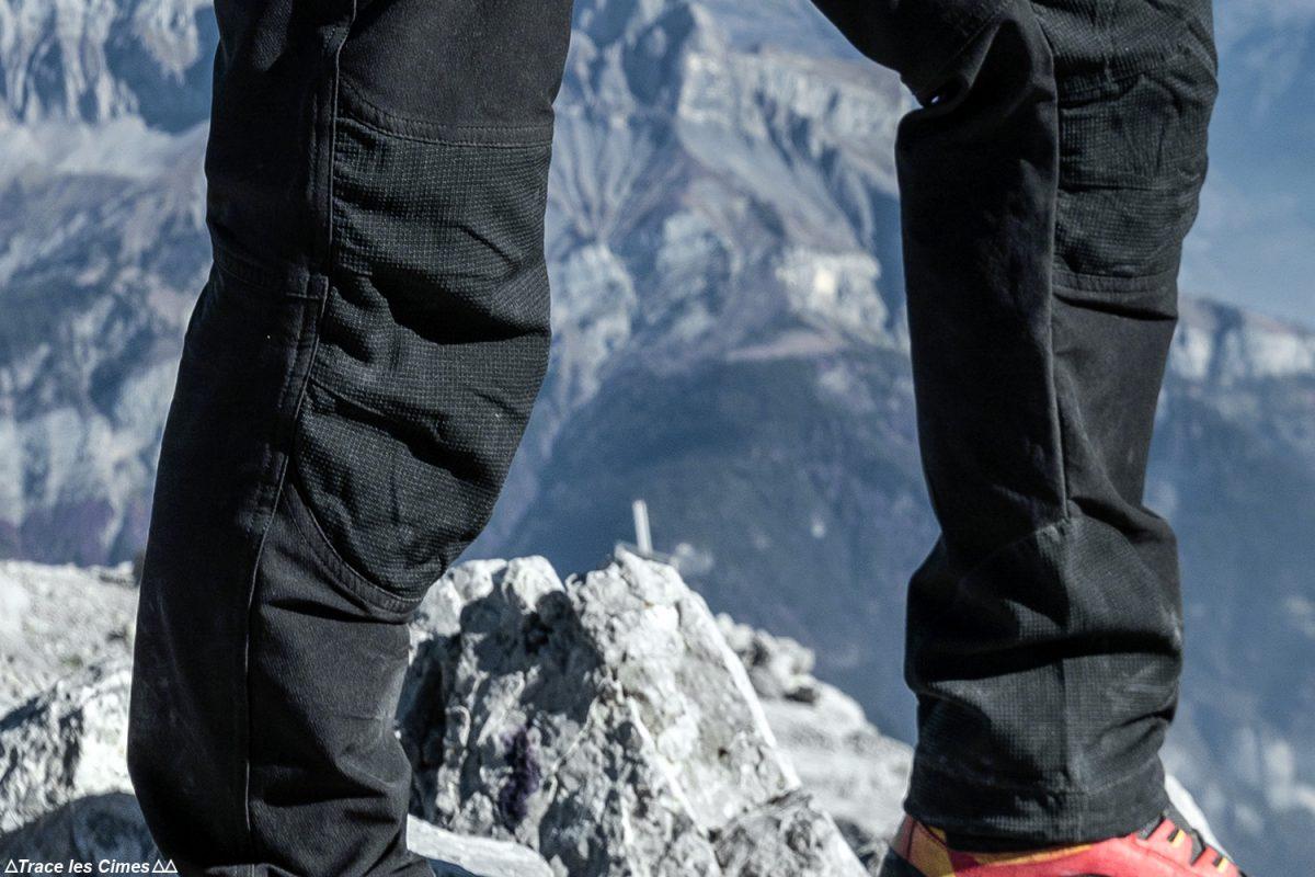 Teste de calças de caminhada CimAlp Explore H: reforços de kevlar nos joelhos e proteção da borda do tornozelo / classificação das calças de trekking