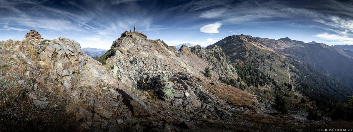 O cume da Roche Pourrie sobre o maciço de Albertville - Beaufortain, Savoy © L'Oeil d'Édouard - Todos os direitos reservados
