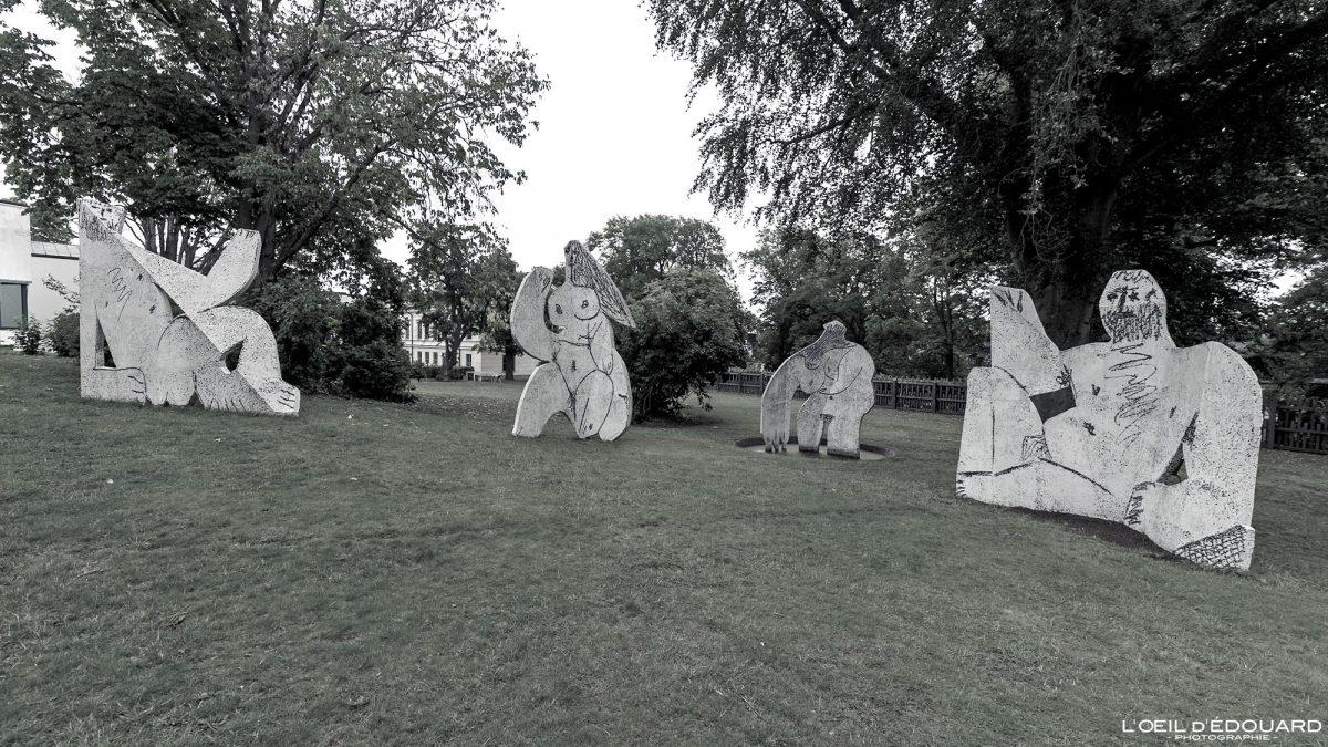 Almoço no gramado (1962) Pablo Picasso - Museu do Jardim Modernamuseet Skeppsholmen Estocolmo Suécia Suécia Escultura do Museu de Arte de Sverige
