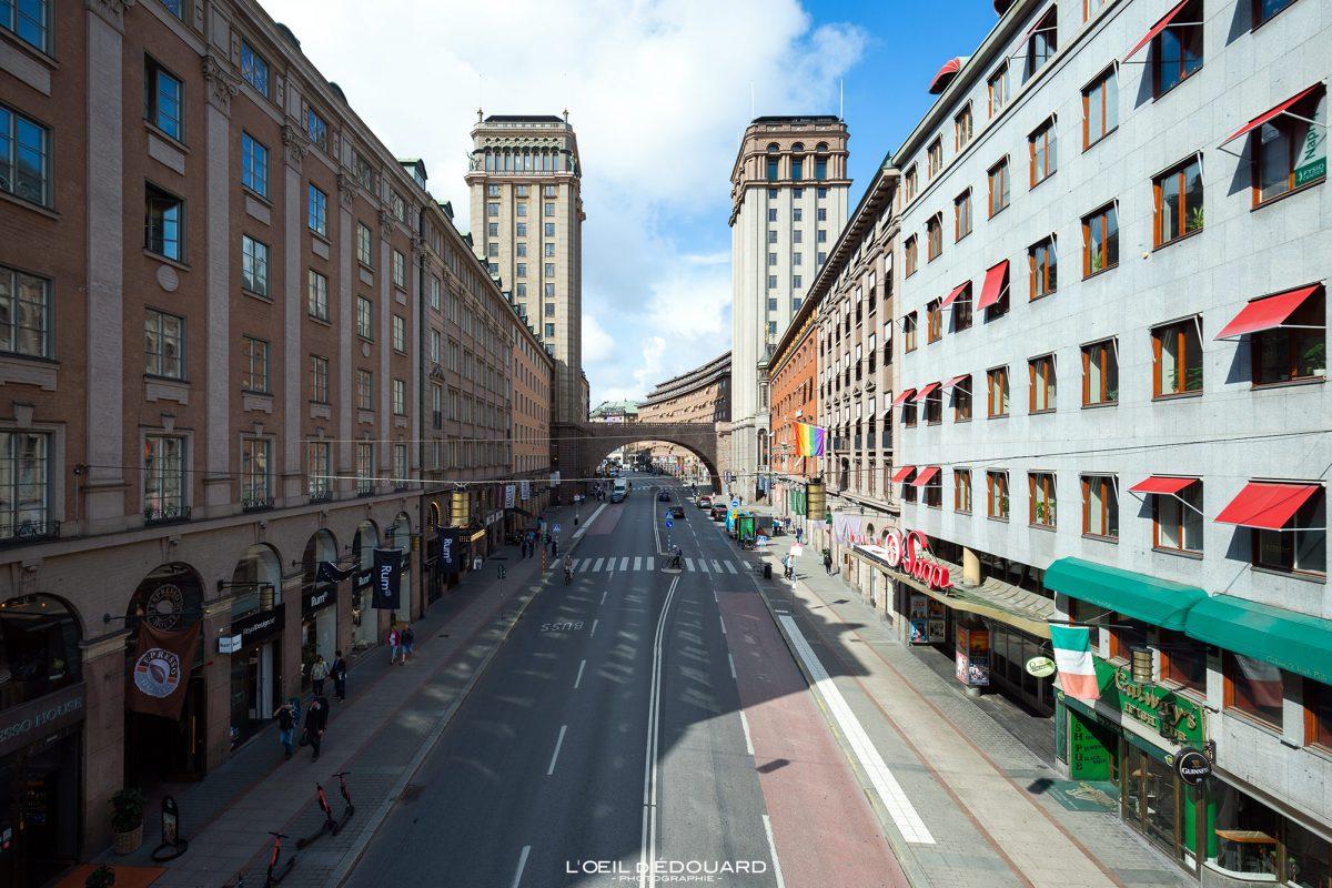 Towers Kungsgatan Street Norrmalm Stockholm Suécia Suécia Suécia Towers Edifícios arquitetônicos