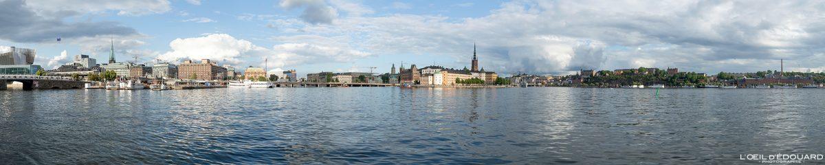 Panorama da cidade de Estocolmo de Stadshuset Kungsholmen Suécia Sverige Suécia vista panorâmica