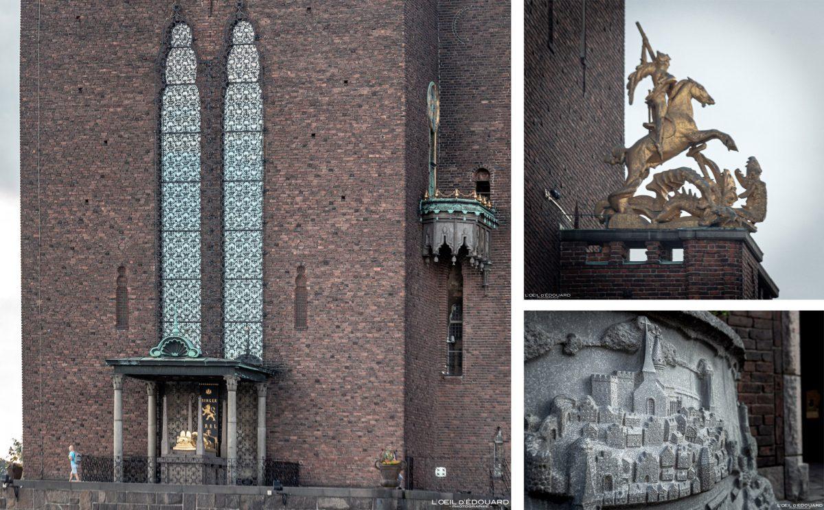 Kungsholmen Town Hall Stockholm Suécia Suécia Suécia Escultura
