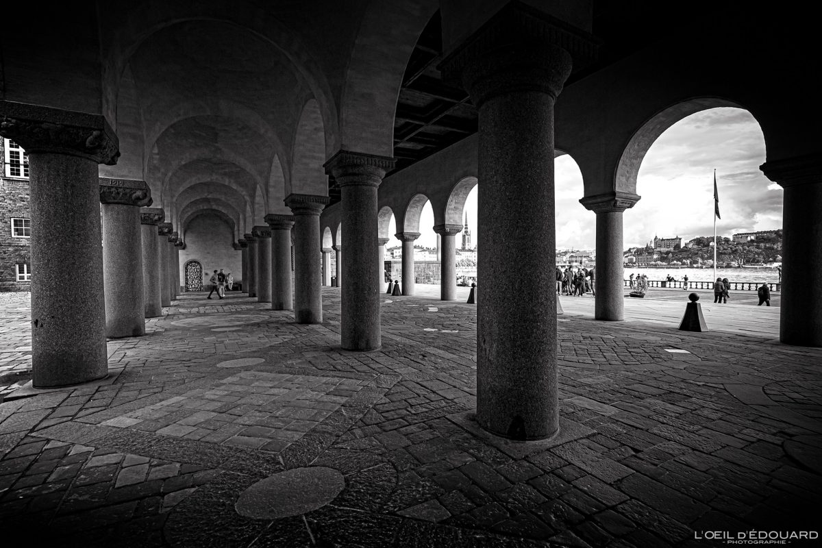 Arcades Stadshus Kungsholmen Estocolmo Suécia Sverige Arquitetura
