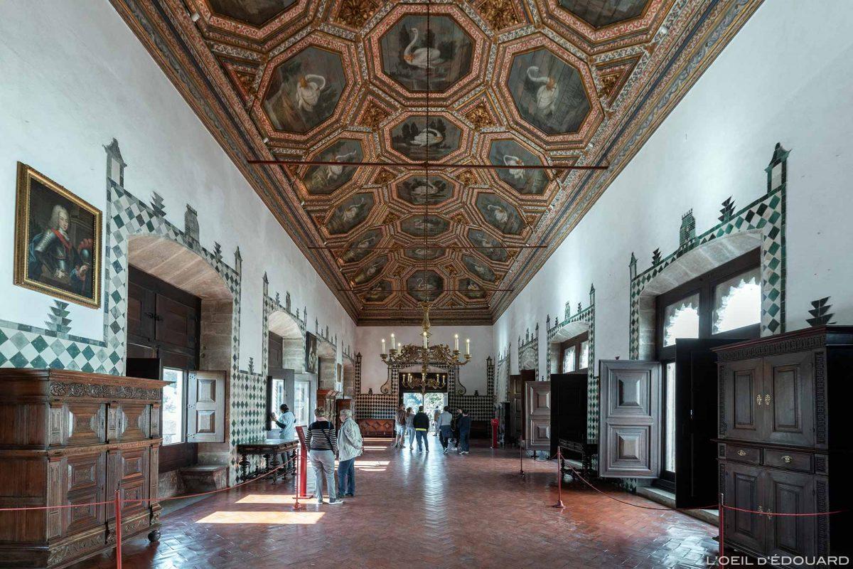 Salão do Cisne, interior do Palácio Nacional de Sintra Portugal Lisboa - Sala dos Cisnes, Palácio Nacional Sintra Portugal Lisboa