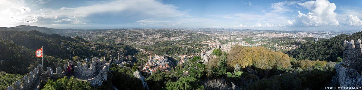 Vista panorâmica de Maurenburg, Sintra Portugal - Castelo dos Mouros Sintra Vista do castelo de Lisboa
