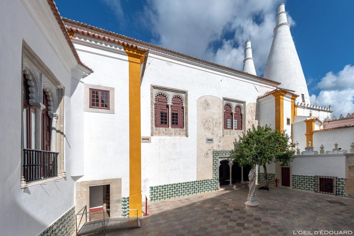 Pátio do Palácio Nacional de Sintra Portugal Lisboa - Palácio Nacional Sintra Portugal Lisboa