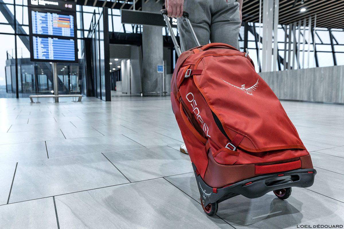 Saco de teste mala com rodas Osprey Rolling Transporter 40 avaliações (vermelho / vermelho) bolsa de viagem - Aeroporto de Lyon