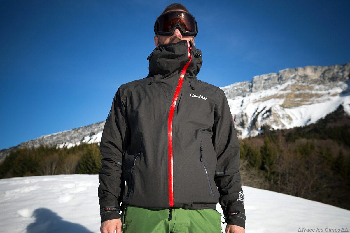 Jaqueta CimAlp Advanced Ultrashell - Teste de equipamentos de montanha ao ar livre
