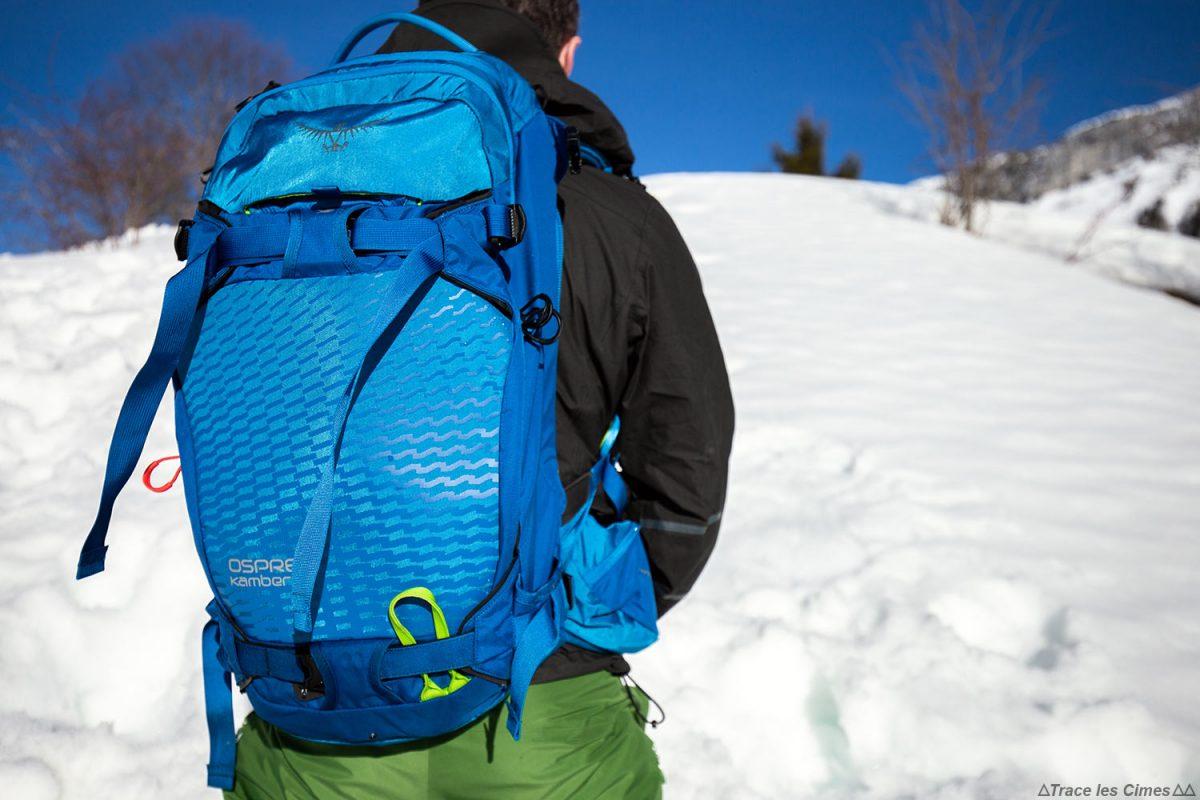 Experimente a mochila de turismo de esqui Osprey Kamber de 32 litros