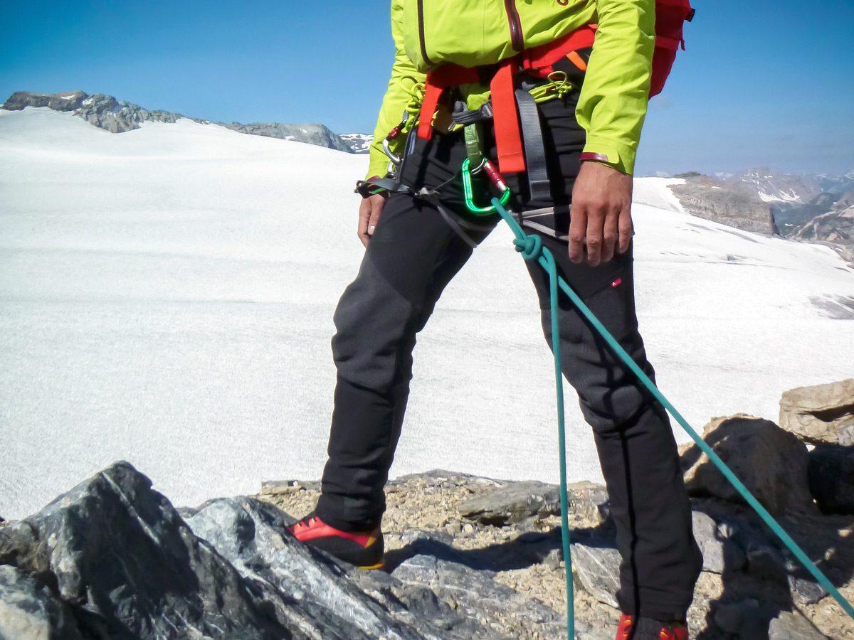 Calças de alpinismo testam o Cimalp Transalp