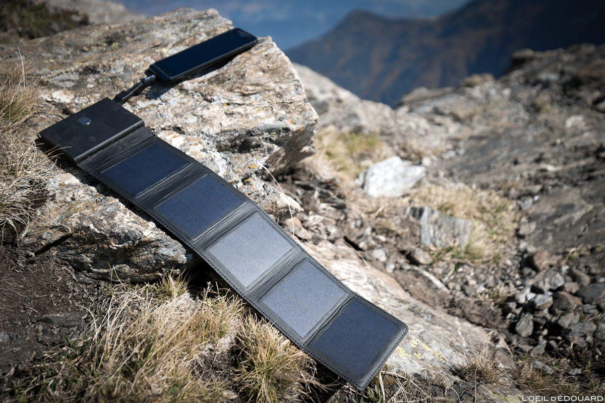 Carregador solar Sunslice Photon para caminhadas nas montanhas e módulos fotovoltaicos para caminhadas nas montanhas ao ar livre