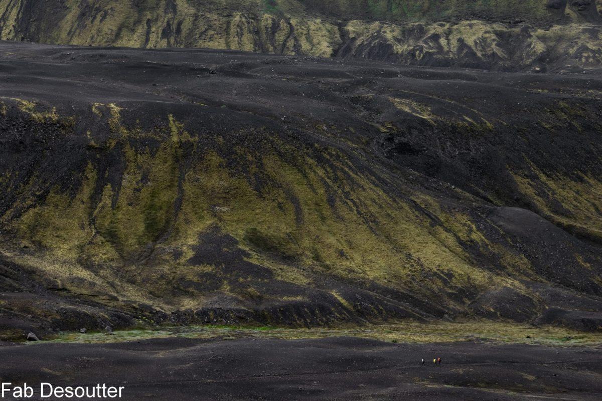 Paisagem Trek Laugavegur Landmannalaugar Thorsmörk Islândia Mountain trekking Islândia Paisagem montanhosa selvagem da Islândia ao ar livre