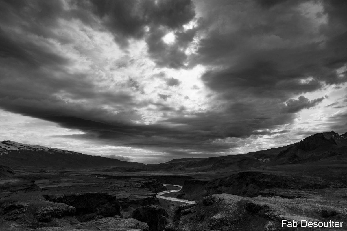 Rio Fremri Rio Emstrua Paisagem Trek Laugavegur Landmannalaugar Thorsmörk Islândia Mountain Trekking Islândia Paisagem Montanha Islandês Outdoor Selvagem