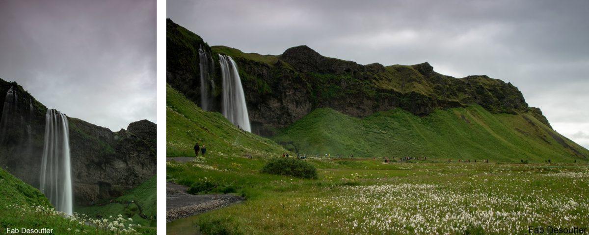Seljalandsfoss Waterfalls Waterfalls Paisagem Trekking Laugavegur Landmannalaugar Islândia Caminhada na montanha Islândia Paisagem Cascatas Islensk Wild