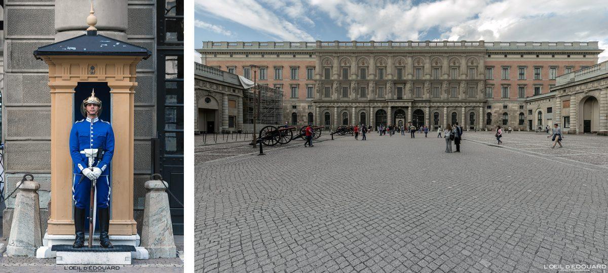 Guarda Real Palácio Real Palácio Real - Altstadt Altstadt Stadsholmen Estocolmo Suécia Guarda Real da Suécia
