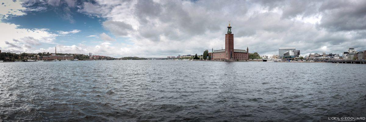Riddarfjärden e Stadshus Kungsholmen Stockholm Suécia Sverige Suécia