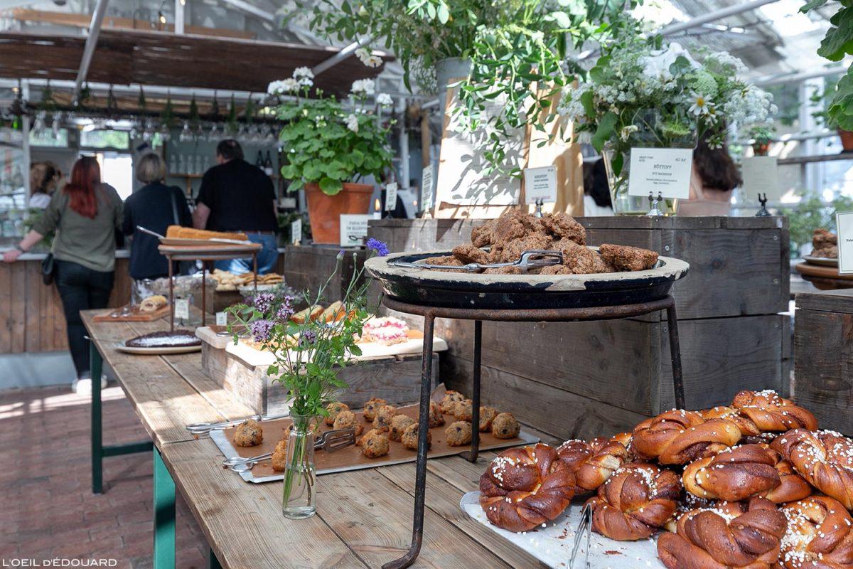 Cozinha sueca de sobremesa - Rosendals Trädgårdskafé, Estocolmo Suécia Suécia Cozinha sueca Cozinha sueca