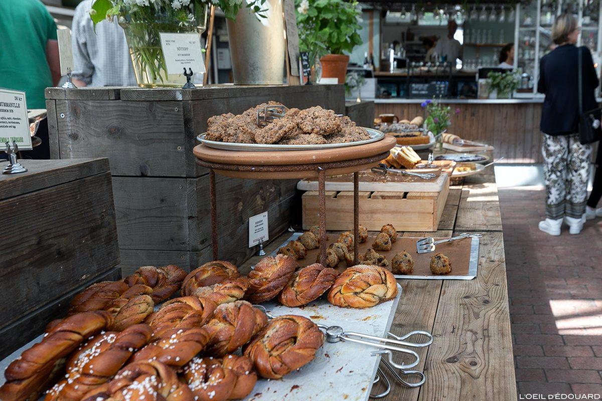 Doces suecos Brioche de canela - Rosendals Trädgårdskafé, Estocolmo Suécia Suécia Cozinha sueca Cozinha Sverige Kanelbullar