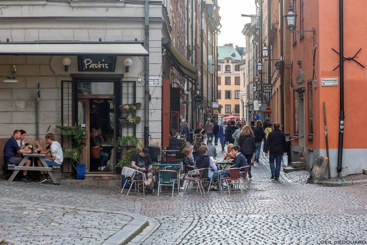 Bar Pastis, Baggensgatan e Köpmangatan, Gamla Stan Stockholm Suécia Sverige Suécia