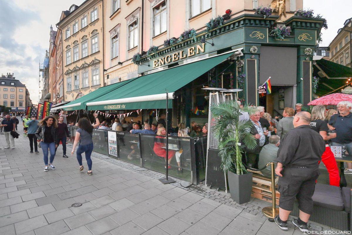 Bar Engelen, Kornhamnstorg Square, Gamla Stan Stockholm Suécia Sverige Suécia