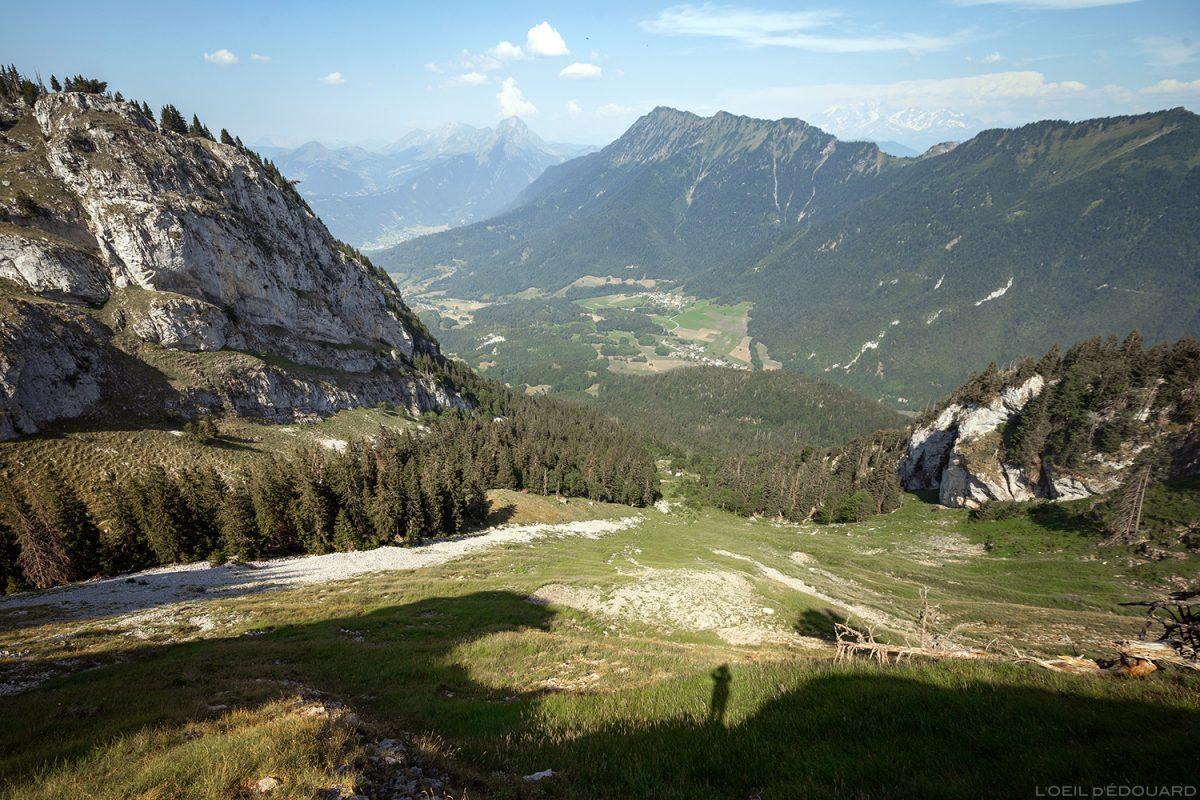 La Combe de La Sambuy, Alpes da Alta Saboia - paisagem dos Alpes Caminhadas na paisagem montanhosa ao ar livre
