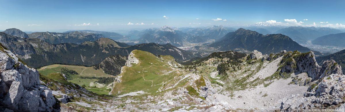 Vista panorâmica de La Pointe de La Sambuy em direção ao Mont Blanc, Alpes Haute-Savoie - Paisagem montanhosa Caminhadas Alpes Caminhadas Paisagem montanhosa Caminhadas ao ar livre