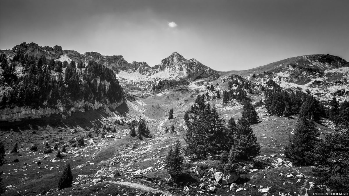 La Combe e Pointe de la Sambuy da área de esqui Seythenex, Haute-Savoie Alps - Paisagem montanhosa Caminhadas Alpes Caminhadas montanhosas ao ar livre