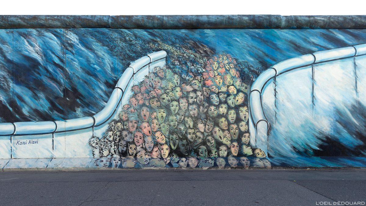 """A pintura """"Aconteceu em novembro"""" Kani ALAVI - Alemanha Muro de Berlim Galeria / pintura Muro de Berlim Alemanha / Berliner Mauer Deutschland"""