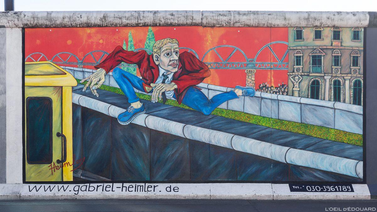"A pintura ""Saltos de parede"" Gebriel HEIMLER - Alemanha Muro de Berlim Galeria / pintura Muro de Berlim Alemanha / Berliner Mauer Deutschland"