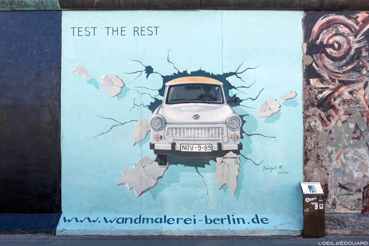 """A pintura """"Tente o resto"""" Birgit KINDER - Alemanha Muro de Berlim Galeria / pintura Muro de Berlim Alemanha / Berliner Mauer Deutschland"""