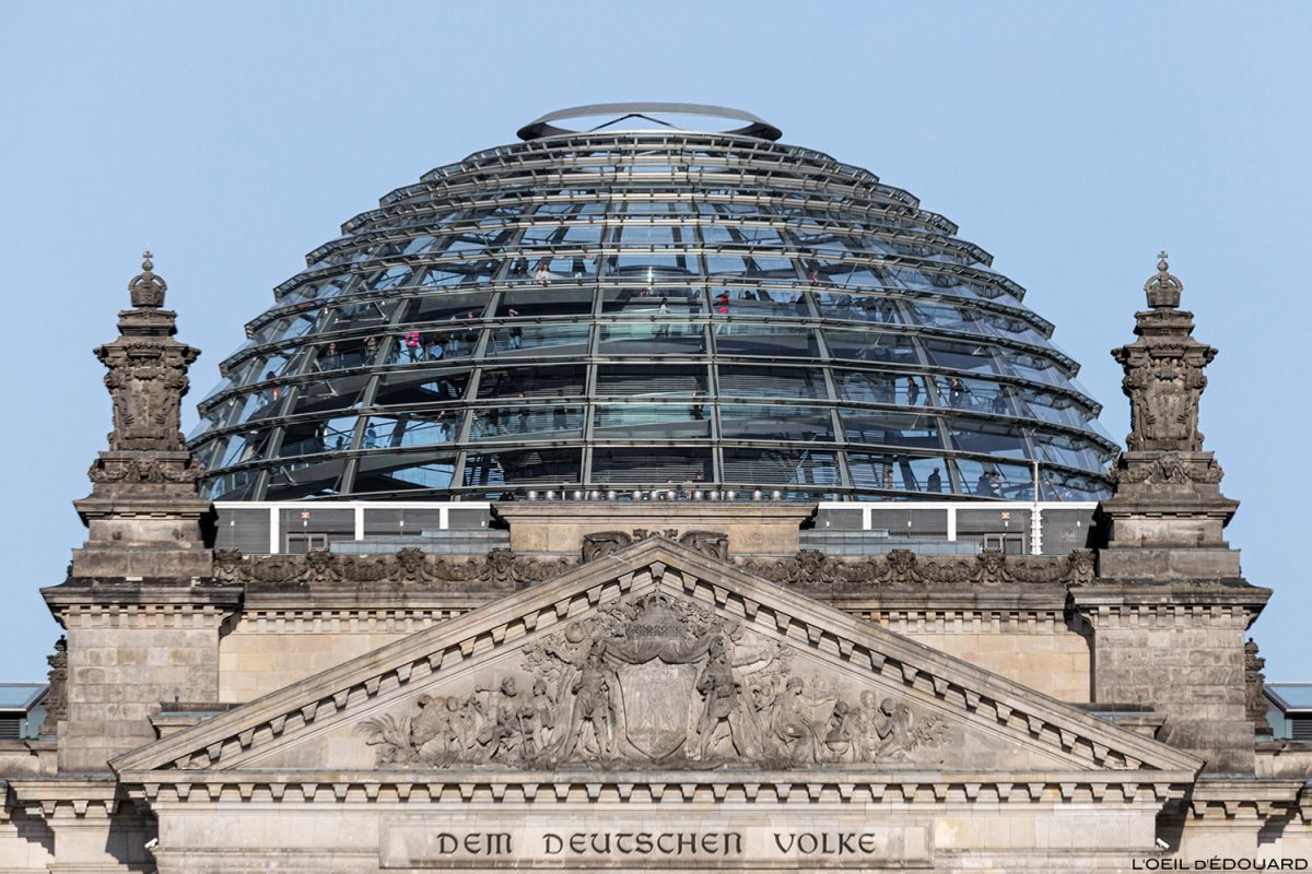 Cúpula do Reichstag Berlim Alemanha / Alemanha Alemanha Arquitetura Sir Noman Foster Architect Glass