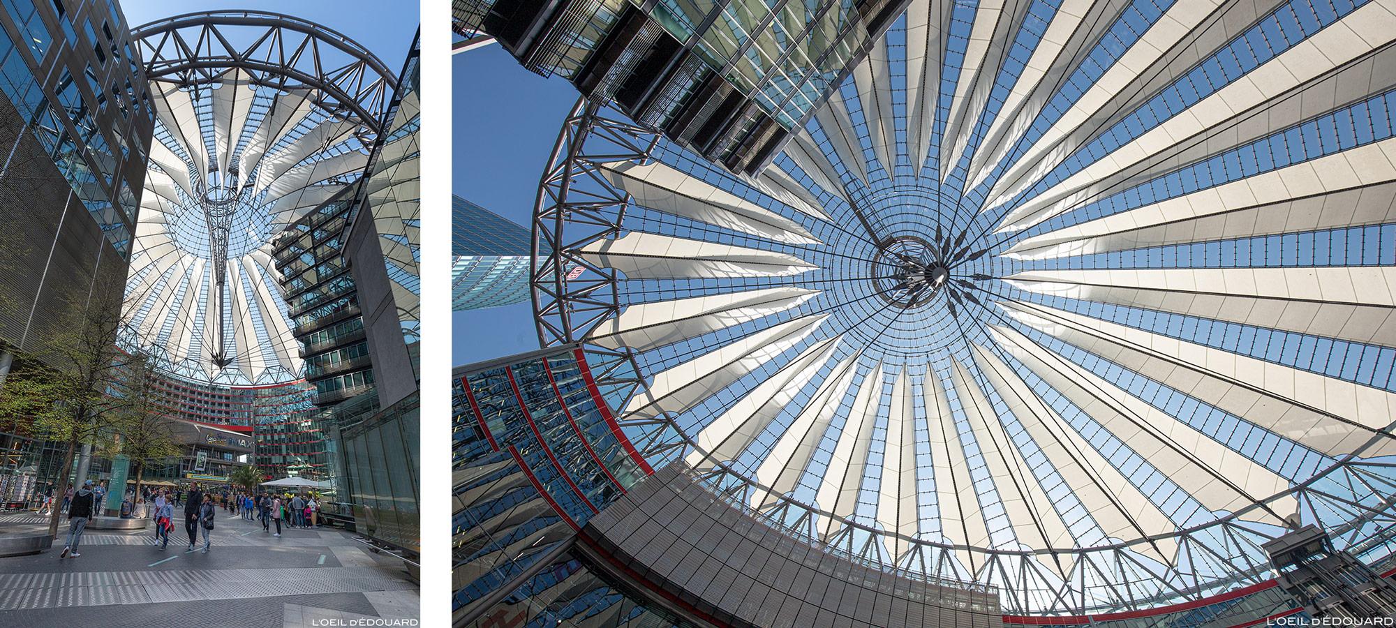 Sony Center Berlin Germany, Potsdamer Platz / Edifícios arquitetônicos Alemanha / Alemanha Helmut Jahn architect