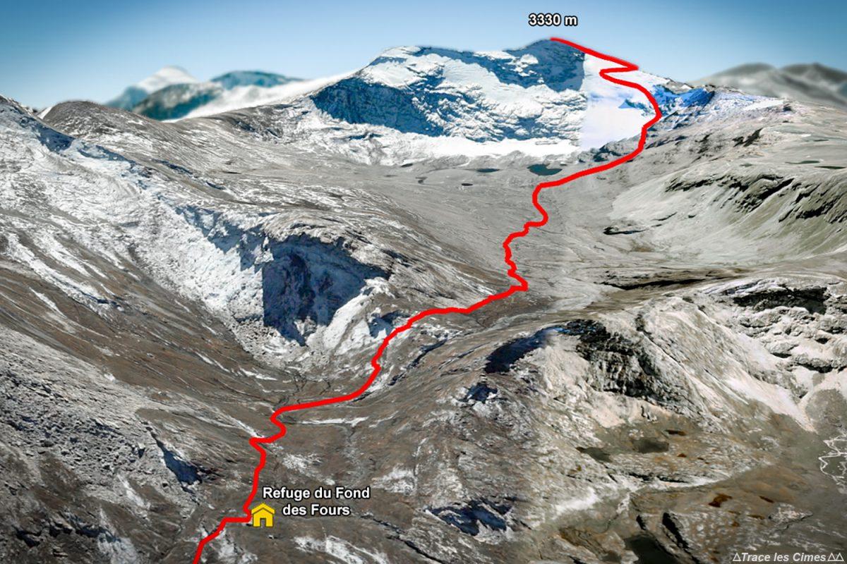 Siga a rota de montanhismo do refúgio Fond des Fours até a ponta de Méan Martin - Maciço de la Vanoise, montanhismo