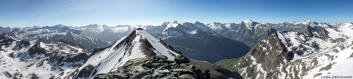 Vista superior do montanhismo Pointe de Méan Martin, maciço de Vanoise - montanhismo paisagem alpina
