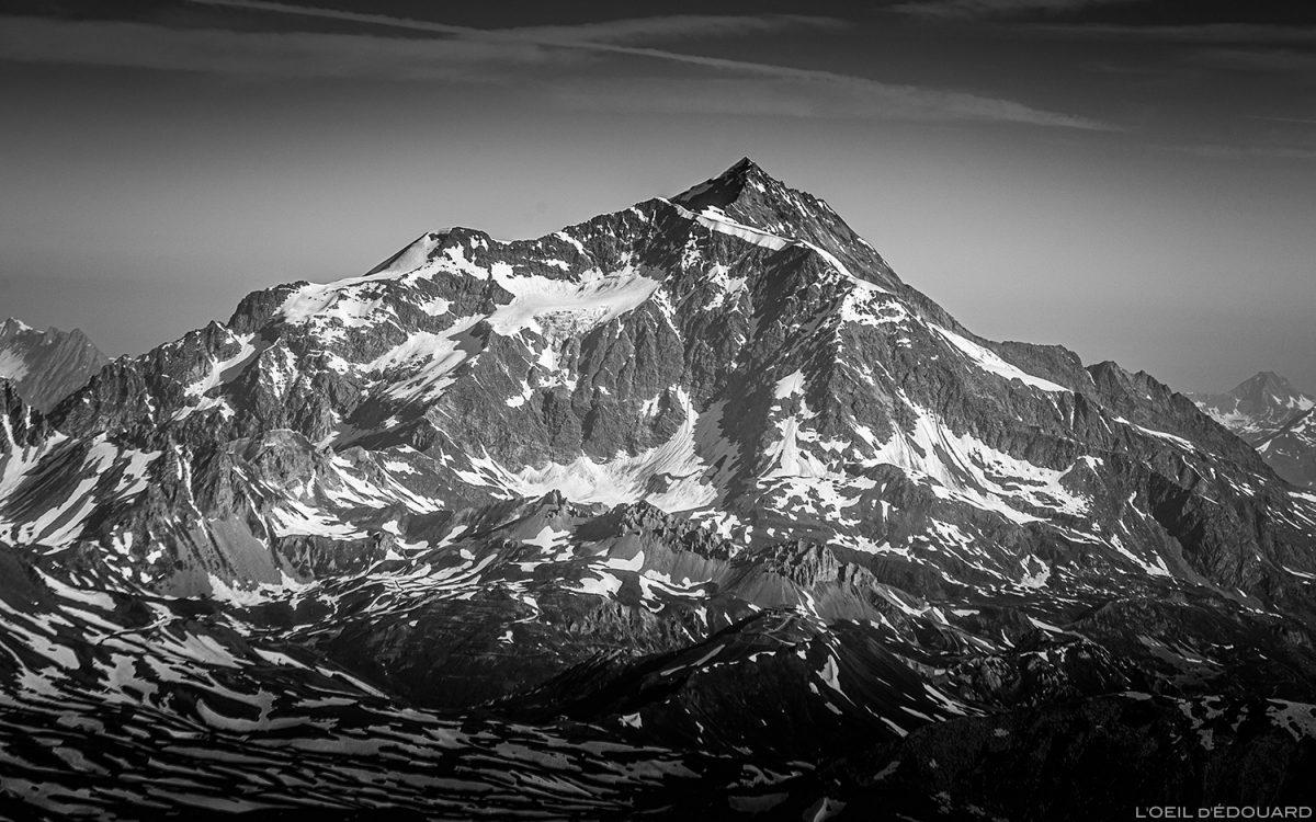 Mont Pourri do cume da Pointe de Méan Martin montanhismo, maciço de Vanoise - montanhismo de paisagem montanhosa montanhismo de paisagem montanhosa