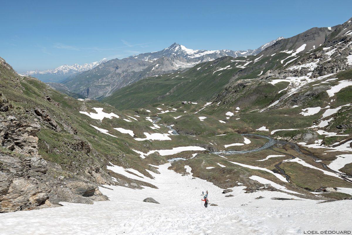 Le Vallon des Fours, Maciço de la Vanoise - paisagem montanhosa dos Alpes Paisagem montanhosa