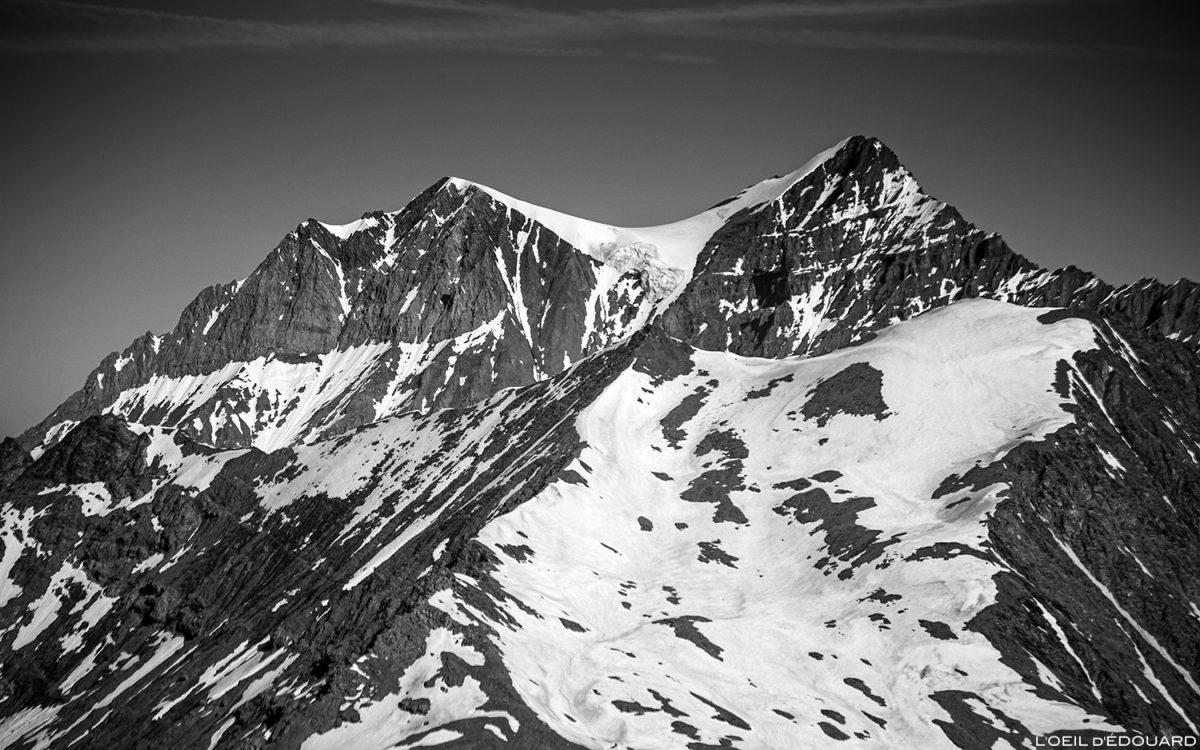 La Grande Casse do cume do montanhismo Pointe de Méan Martin, Maciço de la Vanoise - Paisagem Montanha Alpes Montanha Paisagem Montanhismo
