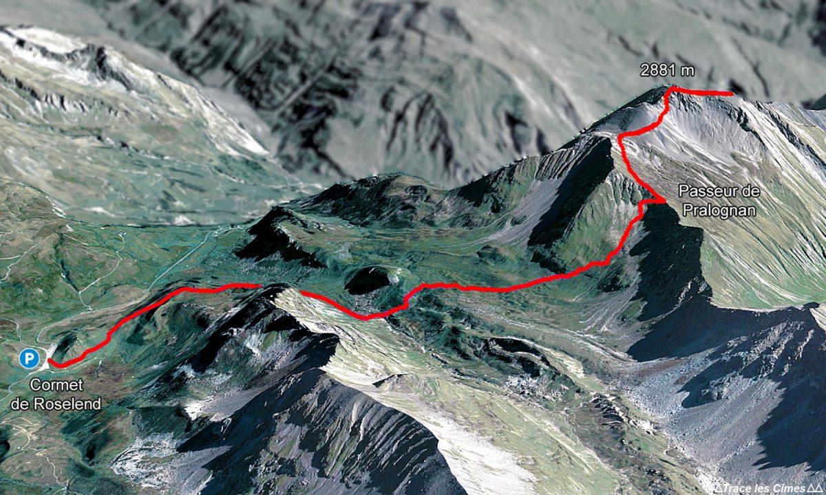 Trilha de caminhada Cormet de Roselend, paisagem dos Alpes Le Beaufortain Savoy em La Pointe de la Terrasse