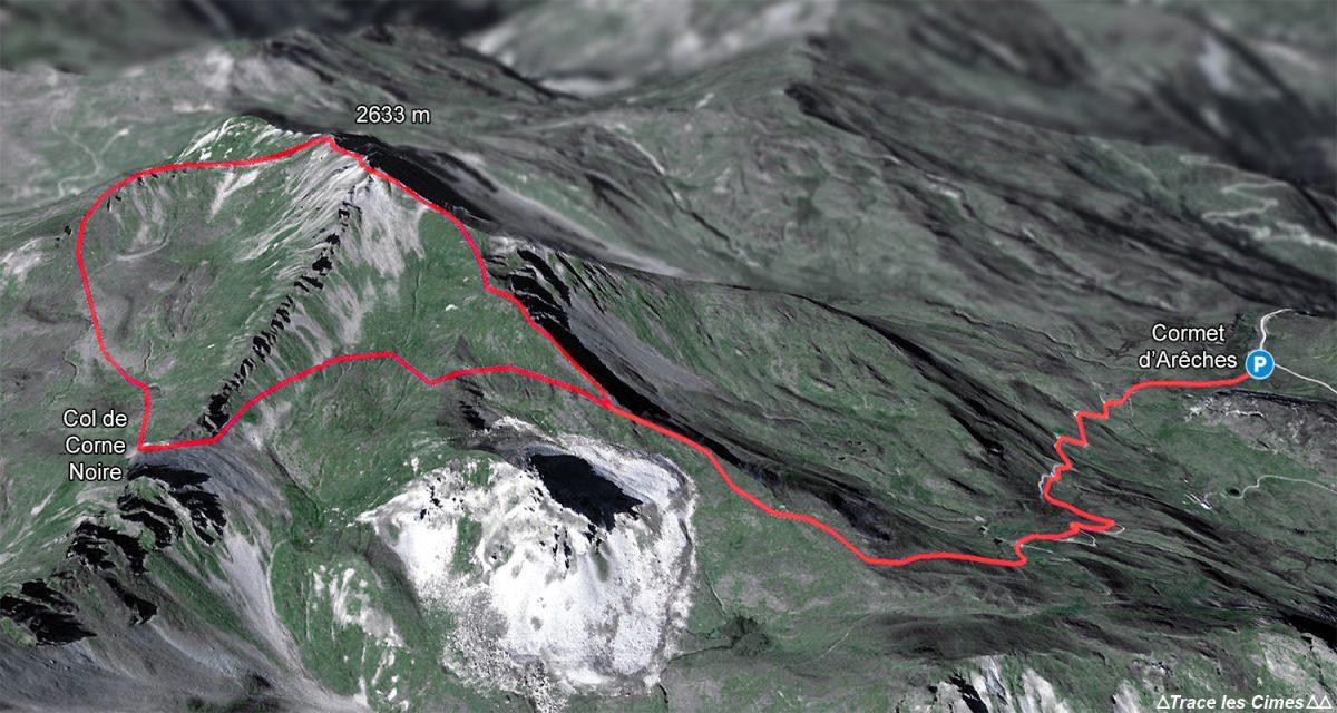 Trilha Crêt du Rey, loop do Col de Combe Noire de Cormet d'Arêches, Le Beaufortain Savoie Montagne Alpes