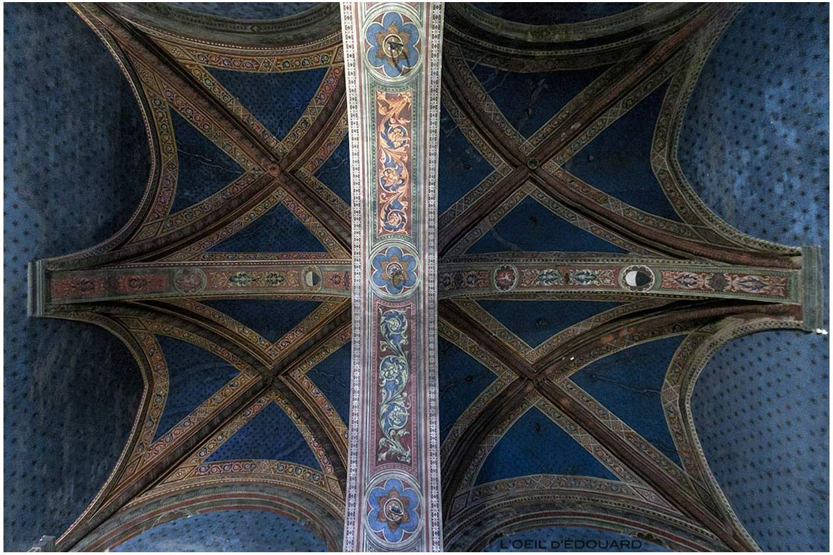 Teto da ante-sala do Consistório / Salão dos Cardeais do Museu Cívico de Siena - Anticamera del Consistoro / Salão dos Cardeais do Palazzo Pubblico de Siena