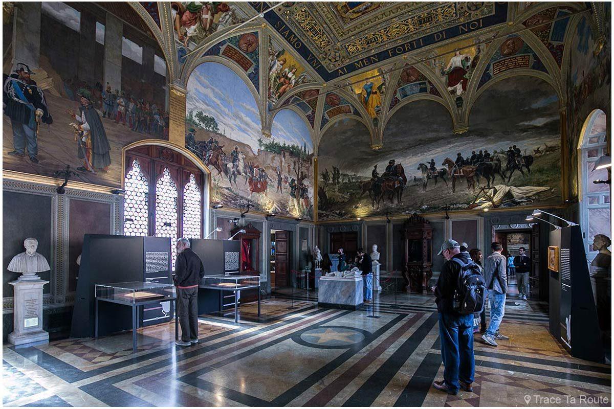 Salão do Risorgimento do Museu Cívico de Siena - Salão do Risorgimento do Palazzo Público de Siena