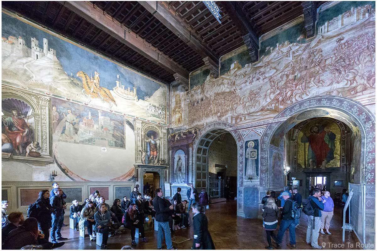 Sala Mappemonde do Museu Cívico de Siena - Salão do Globo do Palácio Público de Siena