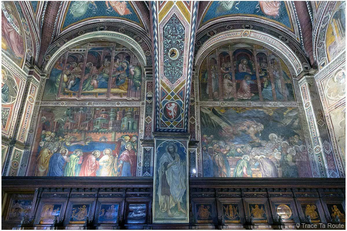 Afrescos nas paredes da Capela do Museu Cívico de Siena - Capela do Palazzo Pubblico de Siena