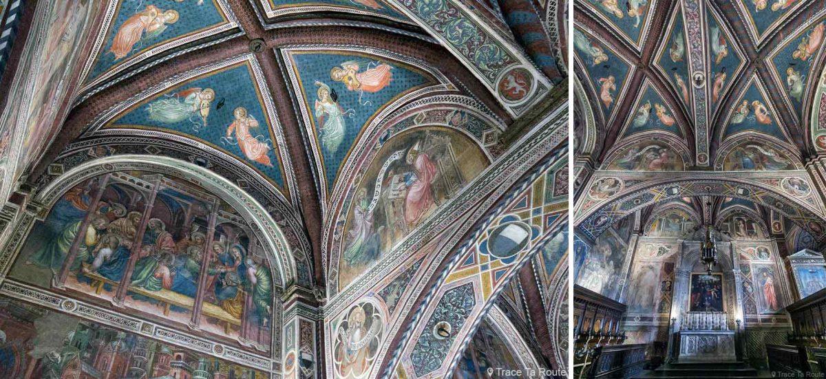 Afrescos na praça da capela do Museu Cívico de Siena - Capela do Palazzo Pubblico de Siena