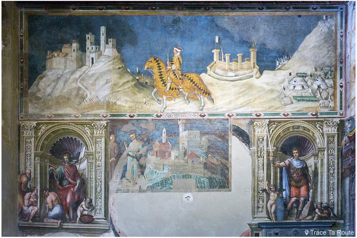 """fresco """"Guidoriccio da Fogliano na sede da Montemassi"""