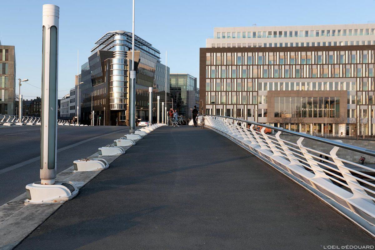 Kronprinzenbrücke, Berlin Alemanha - Arquiteto Santiago Calatrava / Alemanha Alemanha Arquitetura da ponte