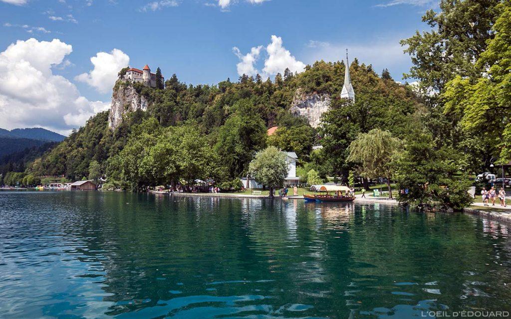 Lago Blac e Castelo de Bled, Eslovênia - Lago Bled, Eslovênia