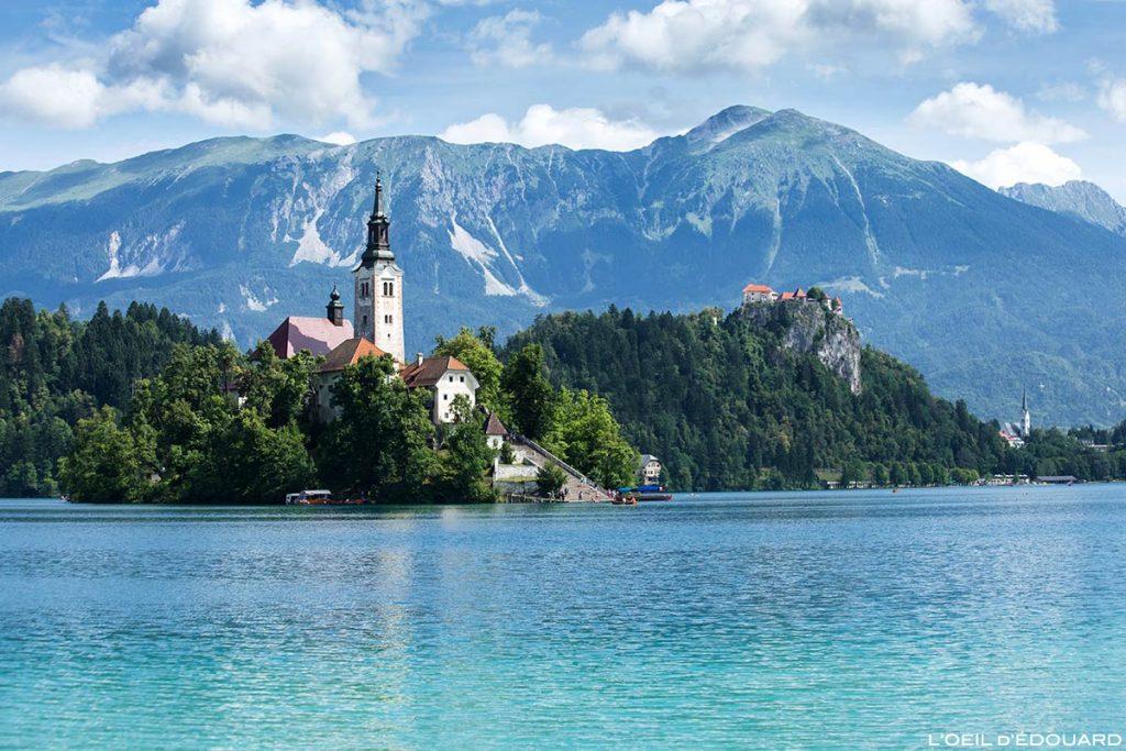 Ilha do Lago Bled com a Igreja da Assunção Igreja da Assunção, Eslovênia - Lago Bled, Eslovênia